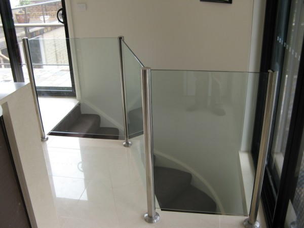 Semi Framed Stainless Steel and Glass